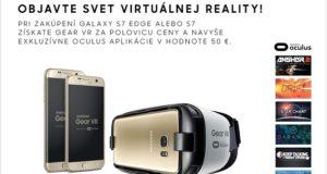 Samsung ponúkne k telefónom radu Galaxy S7 okuliare pre virtuálnu realitu Gear VR za polovicu ceny